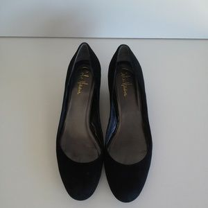 Cole Haan Air Talia Wedge Black Suede Size 8
